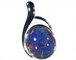 6.8CTS SILVER TRIPLET OPAL PENDANT OF-2043