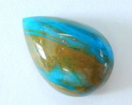47ct High Quality Blue Opal Teardrop Cabochon,Semiprecious Stone Fashion Je