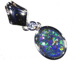 6.2CTS SILVER TRIPLET OPAL PENDANT OF-2045