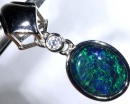 5.4CTS SILVER TRIPLET OPAL PENDANT OF-2048
