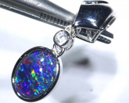 6.45CTS SILVER TRIPLET OPAL PENDANT OF-2049