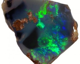 2.25 CTS BLACK  OPAL ROUGH -FACED [BR5585] SAFE