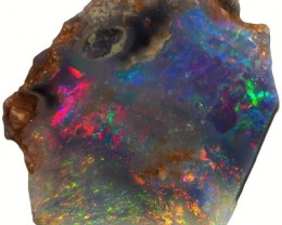 3.30 CTS BLACK  OPAL ROUGH -FACED- THIN  [BR5586] SAFE