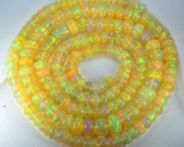 50.96 Cts Natural Multi Color Play Ethiopian Opal Beads NR