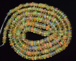 23.35 Ct Natural Ethiopian Welo Opal Beads Play Of Color