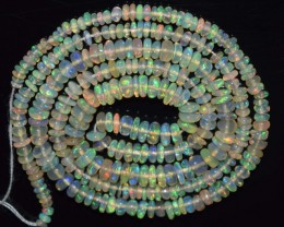 20.75 Ct Natural Ethiopian Welo Opal Beads Play Of Color