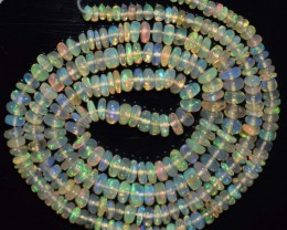 26.40 Ct Natural Ethiopian Welo Opal Beads Play Of Color