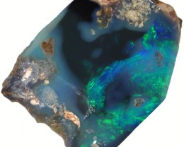 16.90 CTS BLACK  OPAL ROUGH -FACED [BR5613] SAFE
