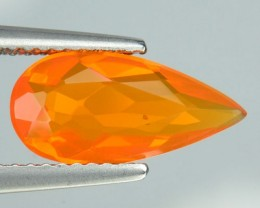1.40 Cts Natural Mexican Fire Opal Faceted Pear