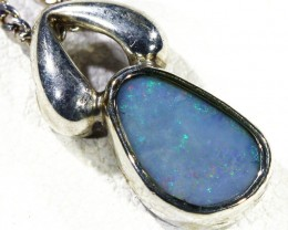 Cute Crystal Opal Doublet  into Sterling Silver pendant CF 1320