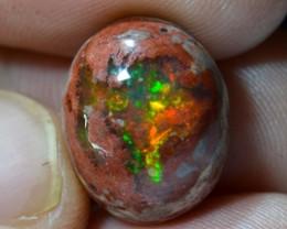 10ct Floral Top  Mexican Matrix Cantera Multicoloured Fire Opal