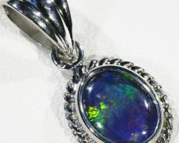 Cute Opal Triplet  into Sterling Silver pendant CF 1338