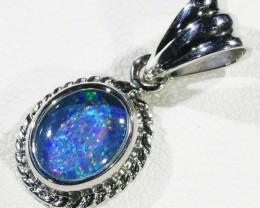 Cute Opal Triplet  into Sterling Silver pendant CF 1341