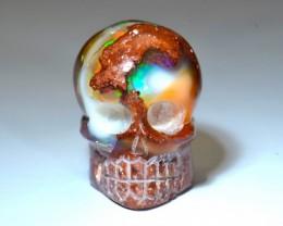 40ct Skull Mexican Matrix Opal Brilliant Carving