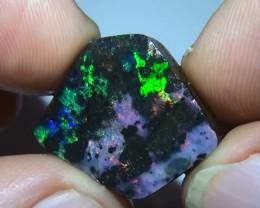 19.0 ct Beautiful Gem Multi Color Solid Boulder Opal Rough Rub