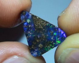 4.30 ct Gem Blue Green Solid Boulder Opal Rub