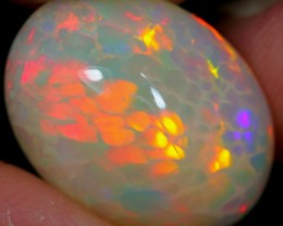 6.82Ct Neon Honeycomb Ethiopian Welo Polished Opal