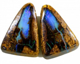 21.85 CTS BOULDER OPAL PAIR  [SO9410]