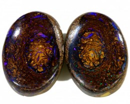 24.55 CTS BOULDER OPAL PAIR  [SO9412]