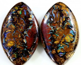 64.30 CTS BOULDER OPAL PAIR  [SO9414]