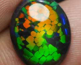 3D DRAGON SKIN Fire Welo Smoked  Opal 2.60 Ct