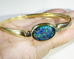 Beautiful Mosaic Opal Bangle CF 1361