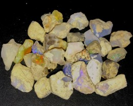 179ct Multi Color Ethiopian Welo Opal Rough Parcel Lot