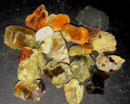 200Ct 16Pcs Ethiopian Welo Rough Specimen Rough Parcel Opal