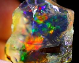22Ct Rainbow Crystal Flash Ethiopian Welo Rough Specimen Rough Opal