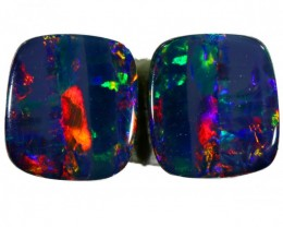 1.5 CTS PAIR DOUBLET OPAL BB42