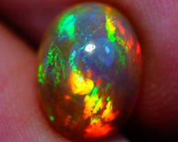 2.62 ct 11X8MM FLASHY SEMI BLACK ETHIOPIAN OPAL - A61