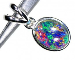 3.9CTS SILVER TRIPLET OPAL PENDANT OF-2057