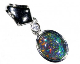 5.9CTS SILVER TRIPLET OPAL PENDANT OF-2062