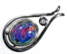6.1CTS SILVER TRIPLET OPAL PENDANT OF-2064