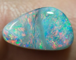 SEMI-BLACK SOLID OPAL LIGHTNING RIDGE 2.46ct GEM $1 N/R AUCTION SBE310717