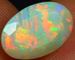 Faceted 2.80cts Glisten Chaff Pattern Ethiopian Opal