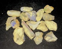 114ct Multi Color Ethiopian Welo Opal Rough Parcel Lot