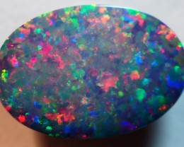 2.65CT GEM QUALITY BLACK OPAL DOUBLET  TO4