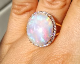 GORGEOUS NATURAL SOLID AUSTRALIAN OPAL RING Cabochon