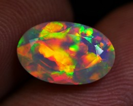 STUNNING FIRE FACETED DELUXE NEON CLORFUL WELO OPAL 1.60 CRT