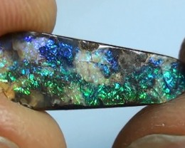 3.45 ct Boulder Opal Natural Blue Green Color