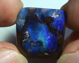 20.30 ct Boulder Opal Natural Blue Color
