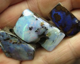 O/L 111cts.3 X BOULDER OPALS~DAMAGED STOCK!