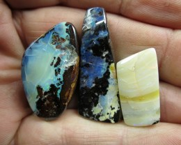 O/L 80cts.3 X BOULDER OPALS~DAMAGED STOCK