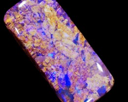 5.95 CTS 3D EFFECT PIPE BOULDER OPAL STONE [BMS243]