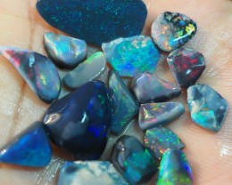 36.45 CT BLACK OPALS ROUGH PRE SHAPED RUB LIGHTNING RIDGE TO82
