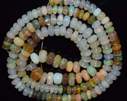 132.35 Ct Natural Ethiopian Welo Opal Beads Play Of Color