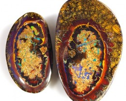 145.30CTS MINERS OLD STOCK  MOTHER AND CHILD BOULDER OPAL CF 1387