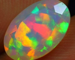 Faceted 1.35cts Extreme Puzzle Pattern Ethiopian Opal