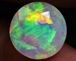 2.30 CRT BEAUTY ROUND FACETED BROADFLASH RIBBON PATTERN WELO OPAL